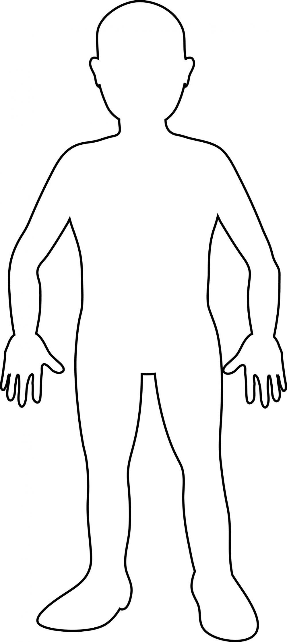 Body outline tool for stress | SelfharmUk